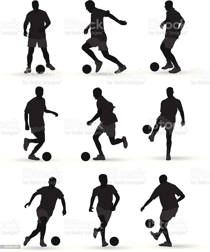 football players vector art illustration