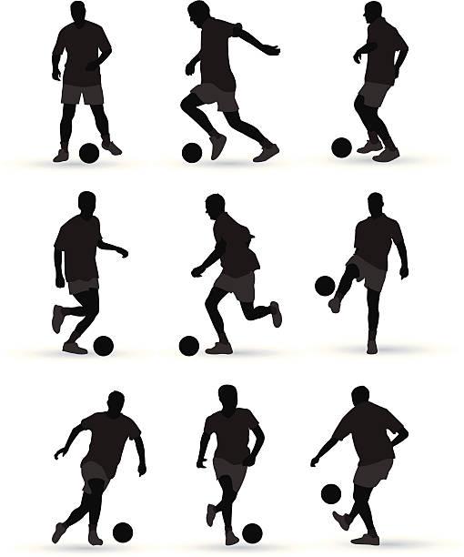 stockillustraties, clipart, cartoons en iconen met football players - soccer player