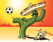 Football Playing Cactus