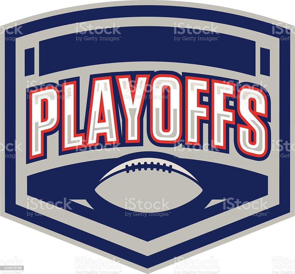 Football Playoffs Logo vector art illustration