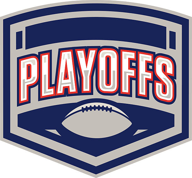 Football Playoffs Logo vector art illustration