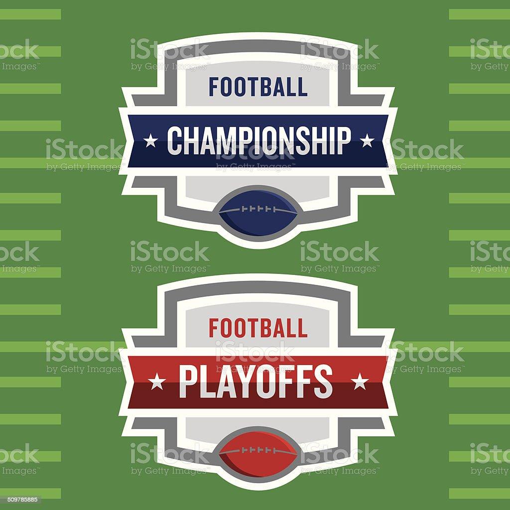 Football Playoffs Logo royalty-free football playoffs logo stock vector art & more images of american football - ball