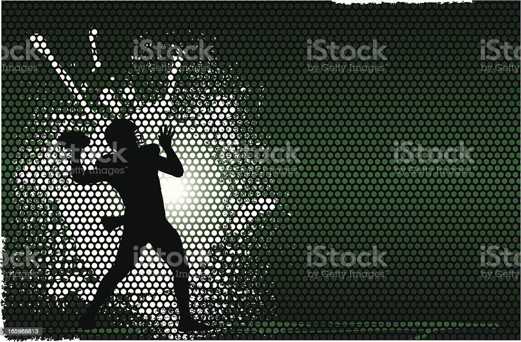 Football Quarterback Background vector art illustration
