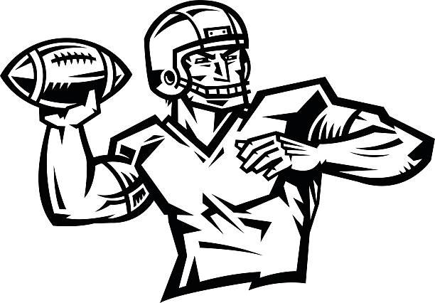Quarterback Clip Art, Vector Images & Illustrations - iStock