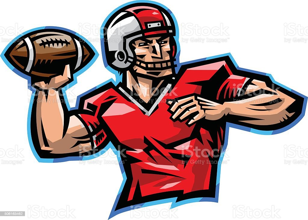 royalty free quarterback clip art vector images illustrations rh istockphoto com