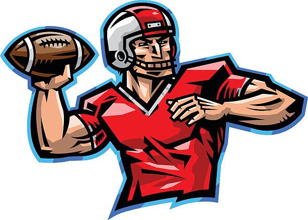 Royalty Free Quarterback Clip Art, Vector Images