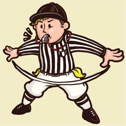 """Football Referee signaling """"No Good"""""""