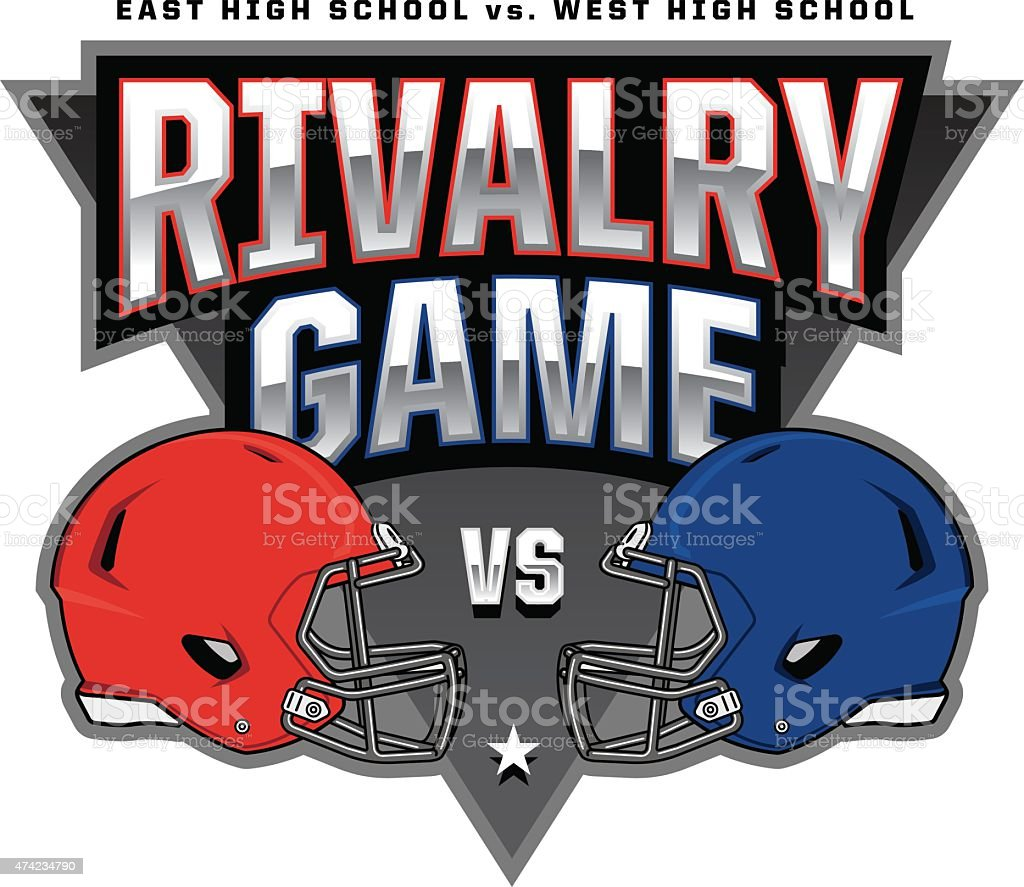 Football Rivalry Game Logo vector art illustration