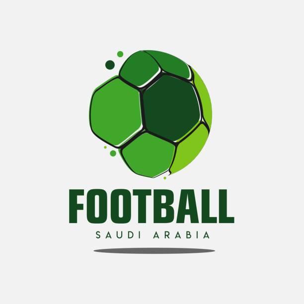 stockillustraties, clipart, cartoons en iconen met voetbal saoedi-arabië logo template design vectorillustratie - indonesische cultuur