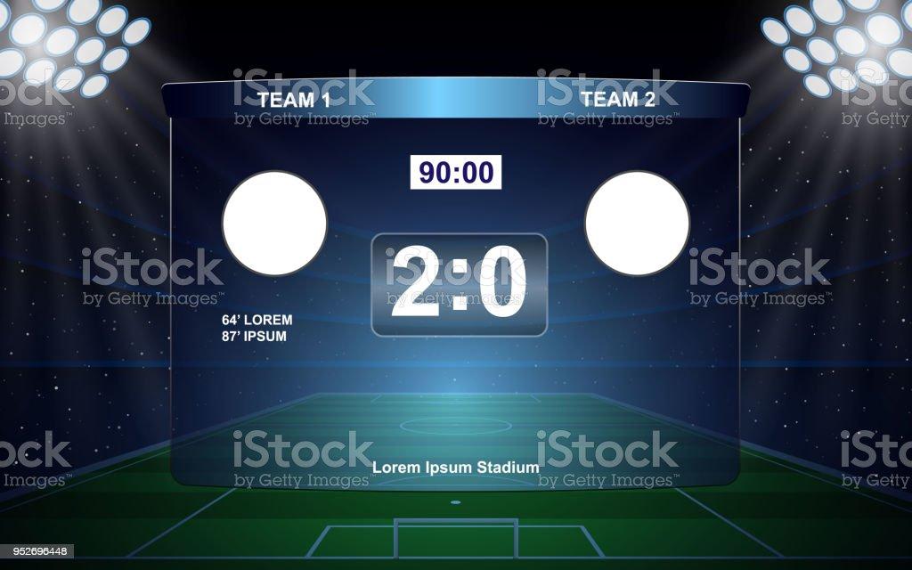 Fußball-Anzeigetafel – Vektorgrafik