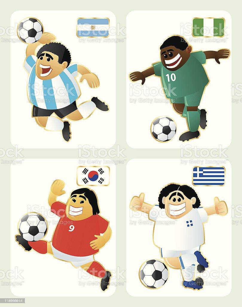 Copa del mundo de fútbol de grupo B - ilustración de arte vectorial