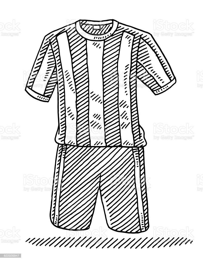 Fussballshirt Und Shorts Zeichnen Stock Vektor Art Und Mehr