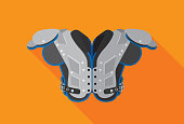 Football Shoulder Pads Icon Flat
