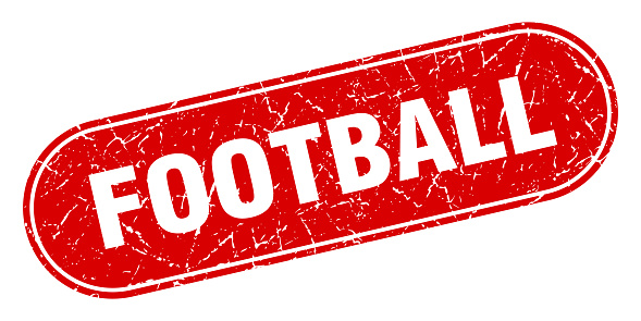 football sign. football grunge red stamp. Label
