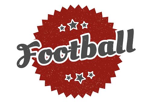 football sign. football round vintage retro label. football