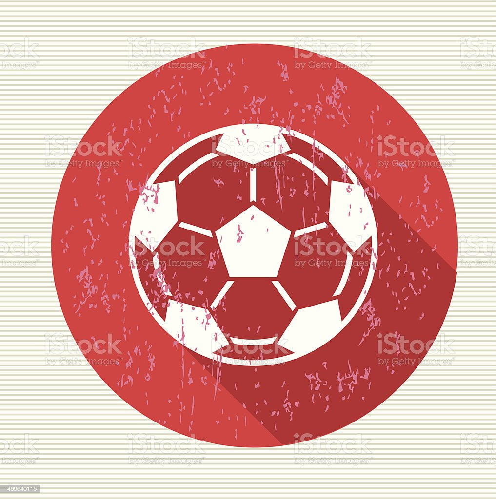 Football sign, vector vector art illustration