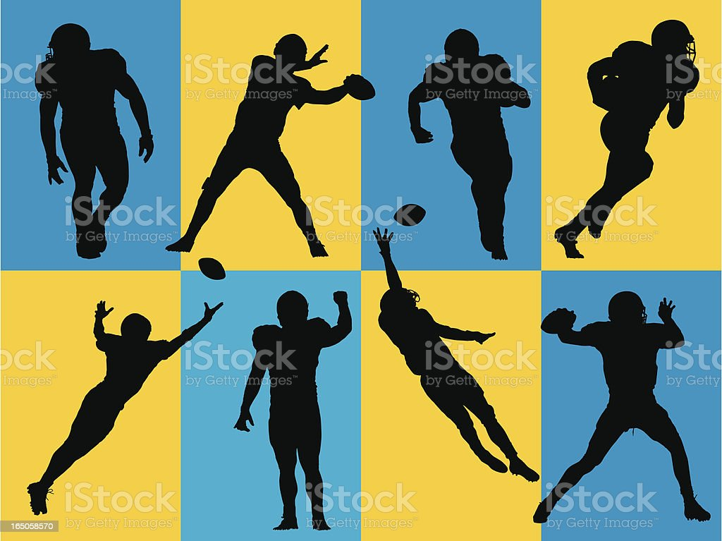 Football Silhouettes royalty-free stock vector art