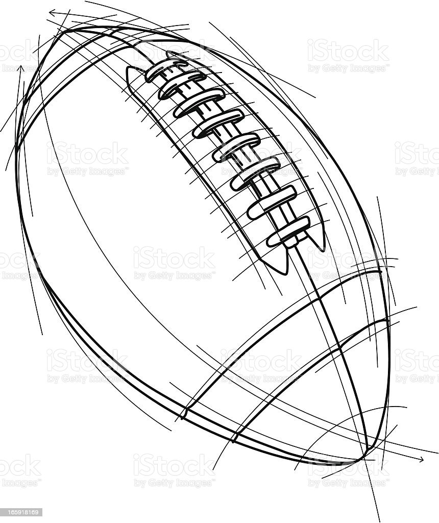 Football sketch royalty-free stock vector art