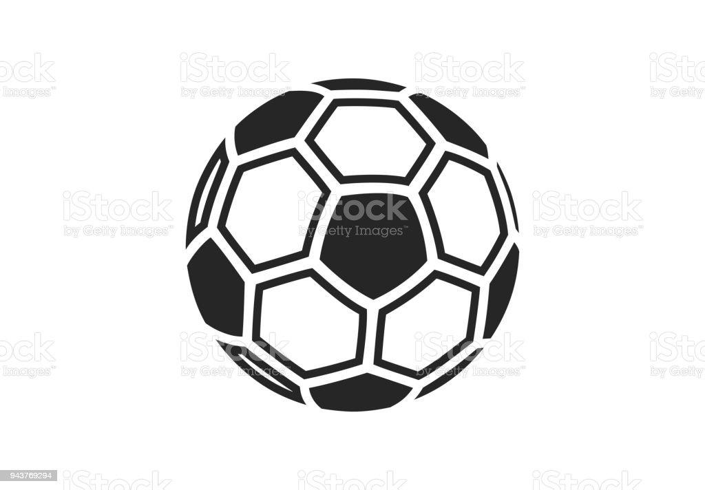Icône de football soccer ball isolé sur fond blanc. - Illustration vectorielle