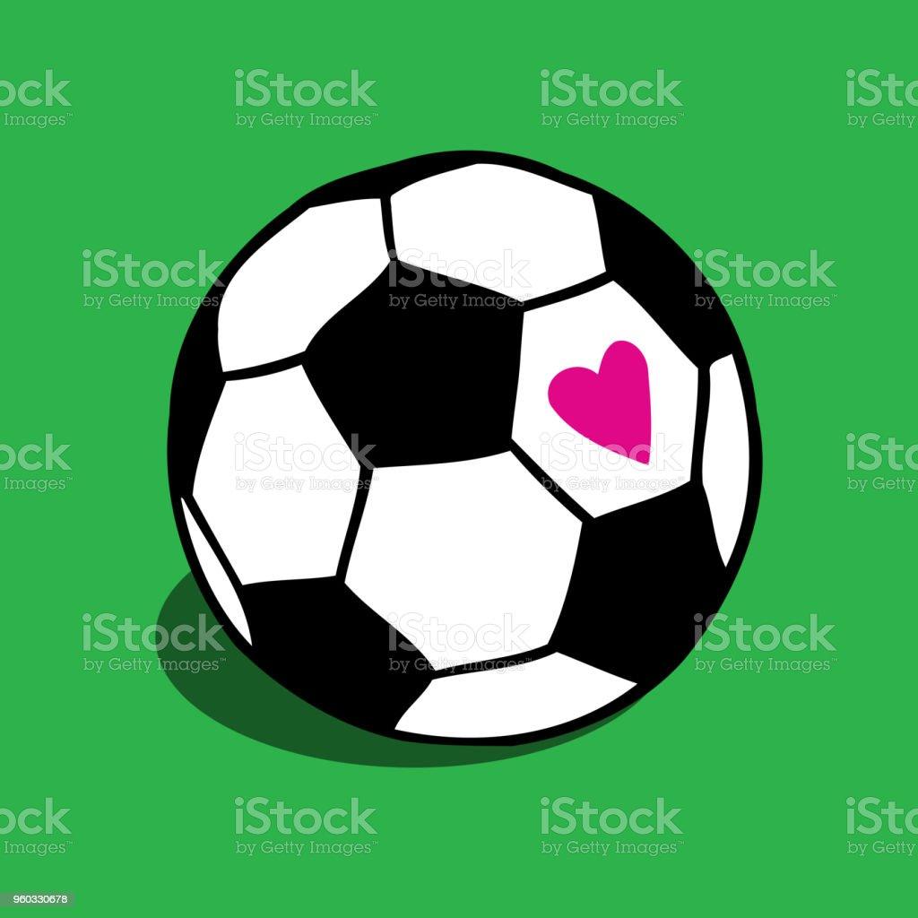 Futebol, ilustração de bola de futebol - ilustração de arte em vetor