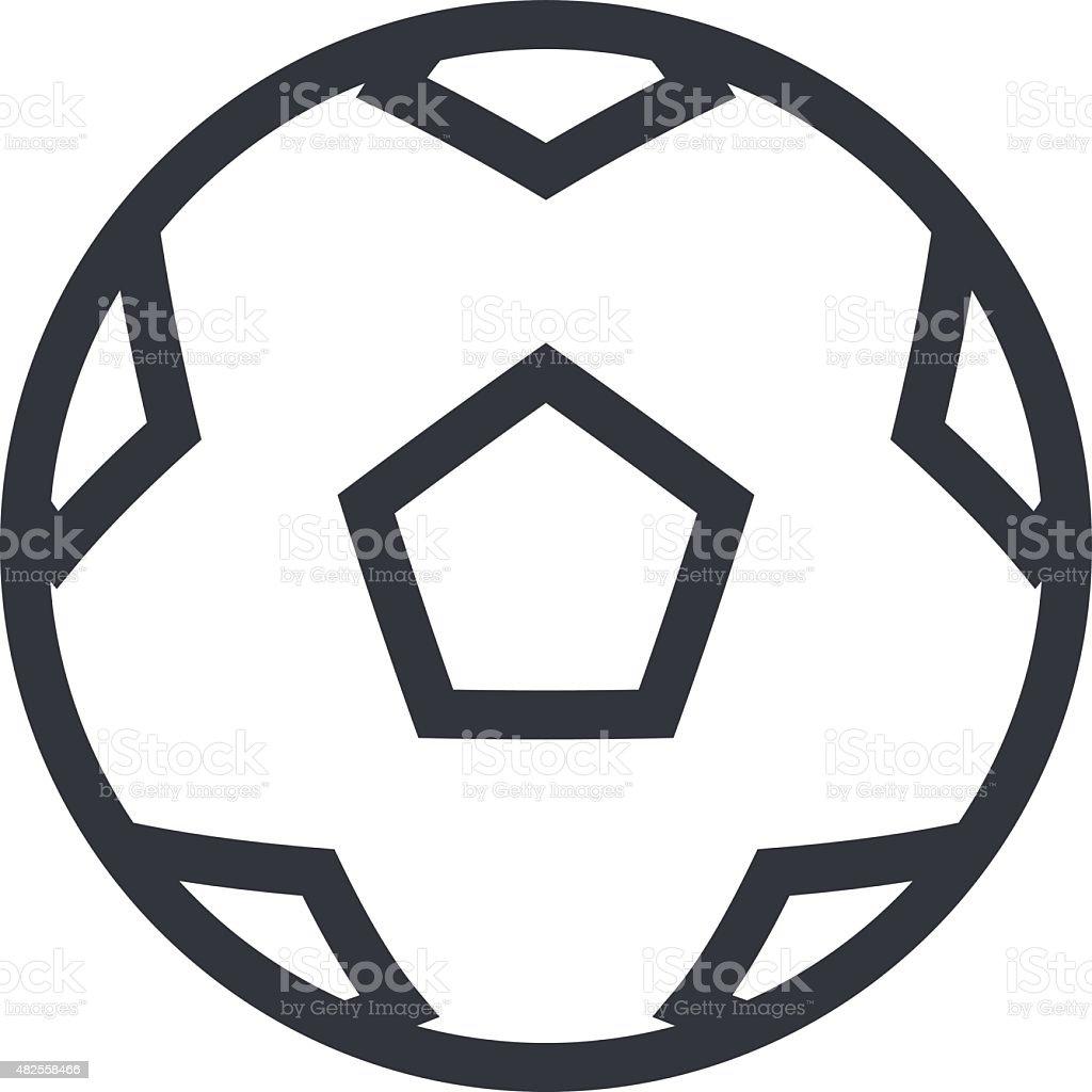 football soccer ball outline icon modern minimal flat design style royalty free football soccer - Football Outline