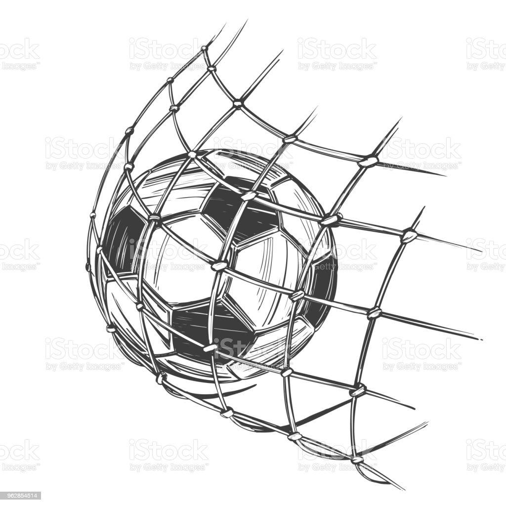 Fussball Fussball Sportspiel Emblem Schild Hand Gezeichnete