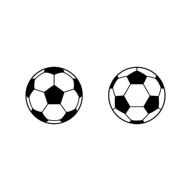 football, soccer ball vector icons - football stock illustrations, clip art, cartoons, & icons