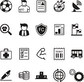 football / soccer club business icons