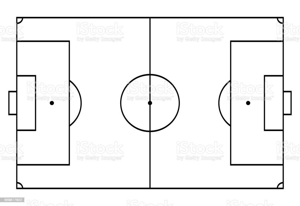 Fussball Fussballplatz Sporthintergrund Linie Art Stil Stock