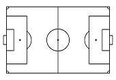 football, soccer court. Sport background. Line art style