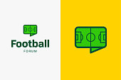 istock Football soccer field icon. 968916996