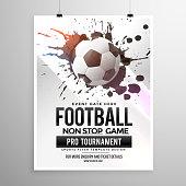 football soccer game tournament flyer brochure template