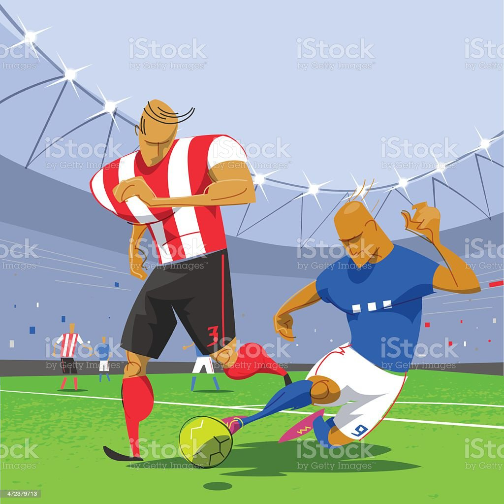 Football Soccer Game royalty-free stock vector art
