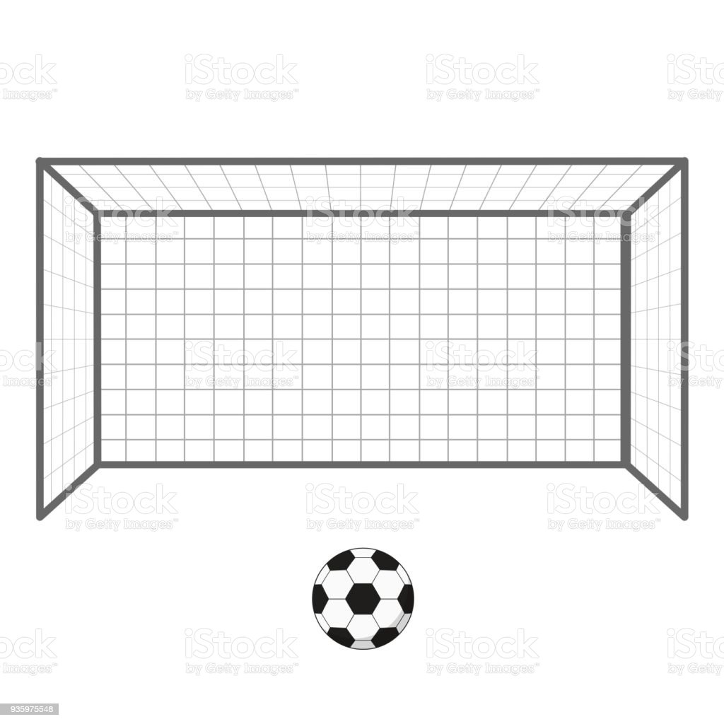 Royalty Free Soccer Goal Post Clip Art Vector Images