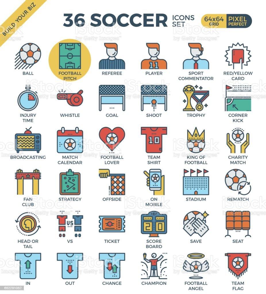 Fußball-Symbole – Vektorgrafik