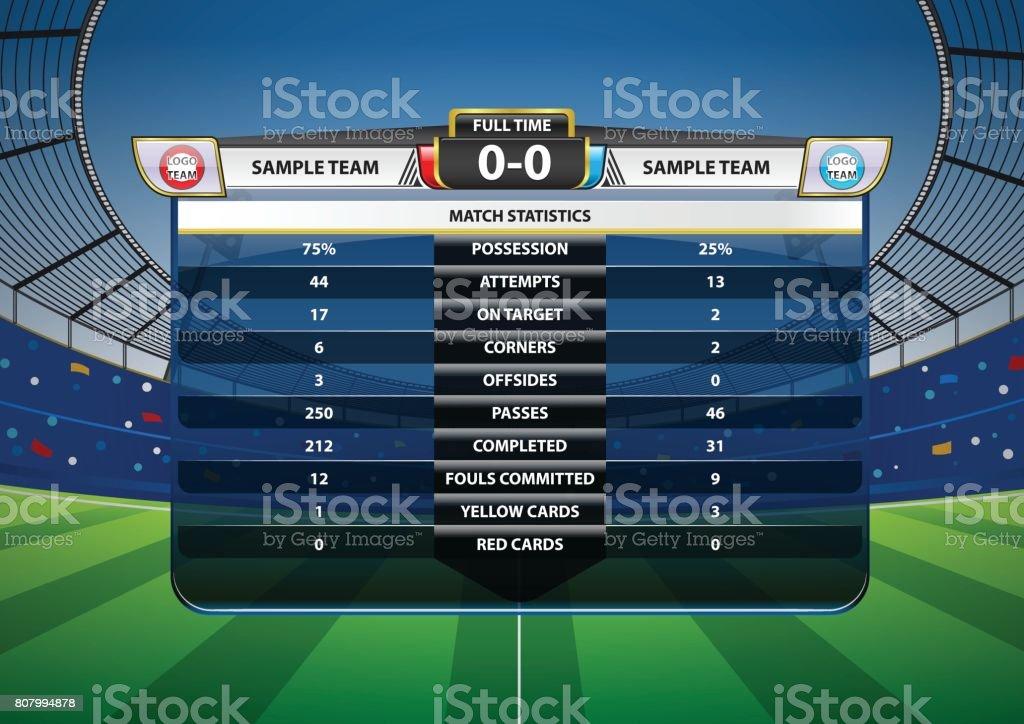 Fußball-Fußball-Match-Statistik – Vektorgrafik