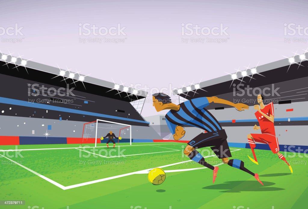 Jogo de futebol - ilustração de arte em vetor