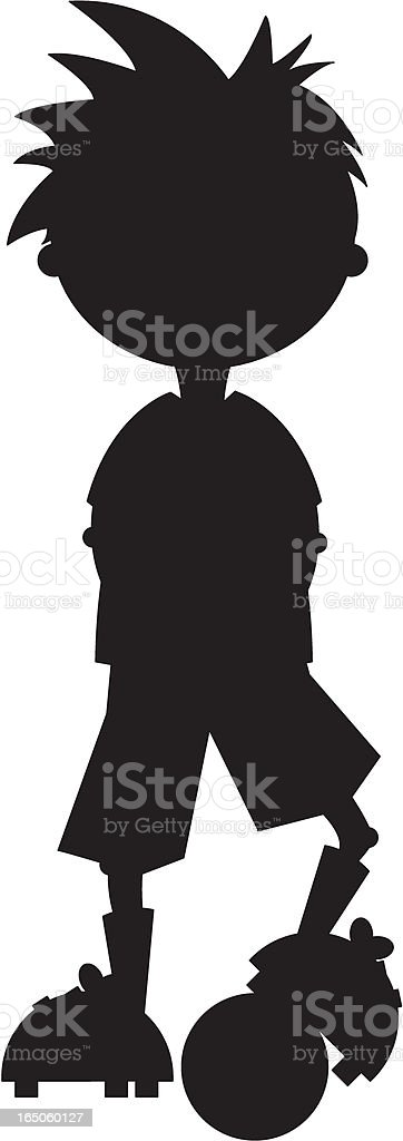 Football Soccer Player Silhouette royalty-free football soccer player silhouette stock vector art & more images of athleticism