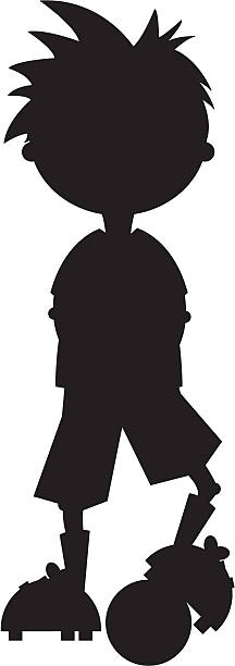 Football Soccer Player Silhouette vector art illustration