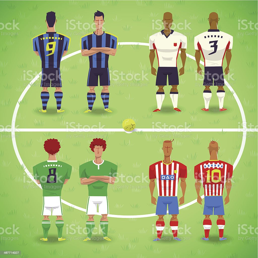 Royalty Free European Football Championship Clip Art