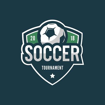 football, soccer . sport emblem. vector illustration