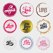 Football, Soccer tournament, championship, league Hand lettering badges labels can