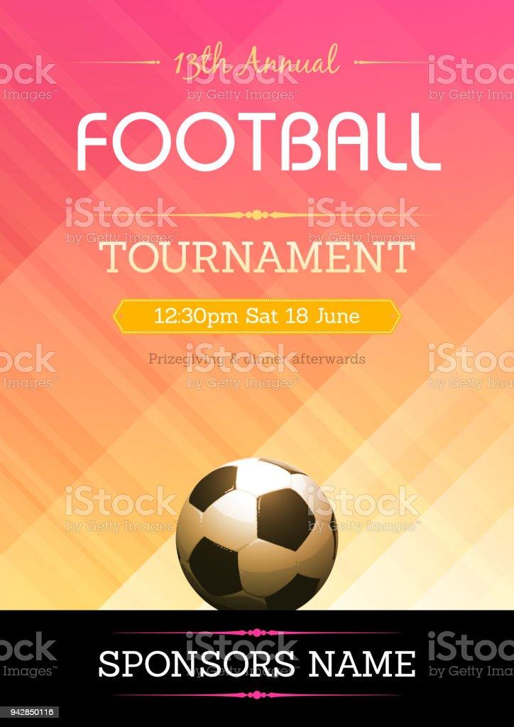Futebol, cartaz do torneio de futebol - ilustração de arte em vetor