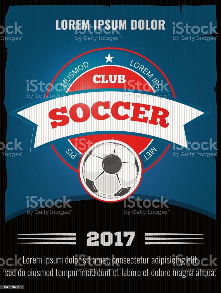 Football Soccer Vector Poster Template Stock Vector Art & More ...