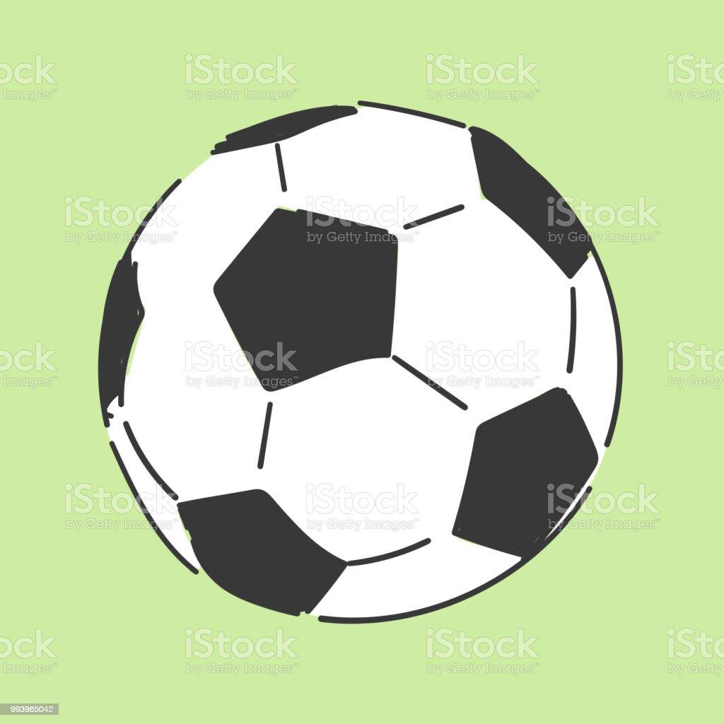 Fussball Soccerball Hand Gezeichnete Stil Doodle Design