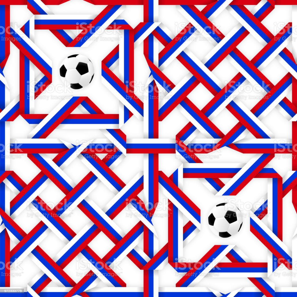 c62d41b35338cc Football sport poster design. Seamless pattern with russian flag colors red