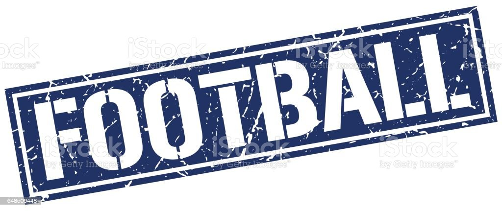 football square grunge stamp vector art illustration