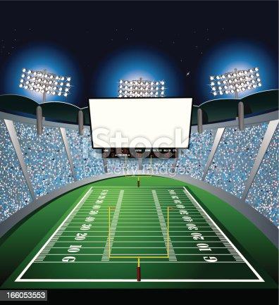 istock Football Stadium - Jumbotron, Large Scale Screen 166053553