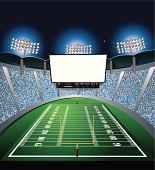 Football Stadium - Jumbotron, Large Scale Screen