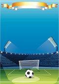 Football Stadium. Vector Background